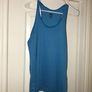 blue Nike dry fit workout shirt